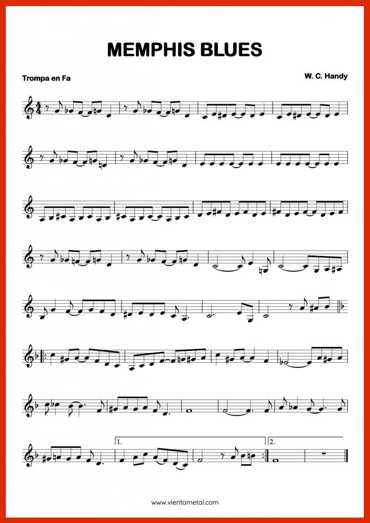 MEMPHIS BLUES - Partitura para Trompa en Fa