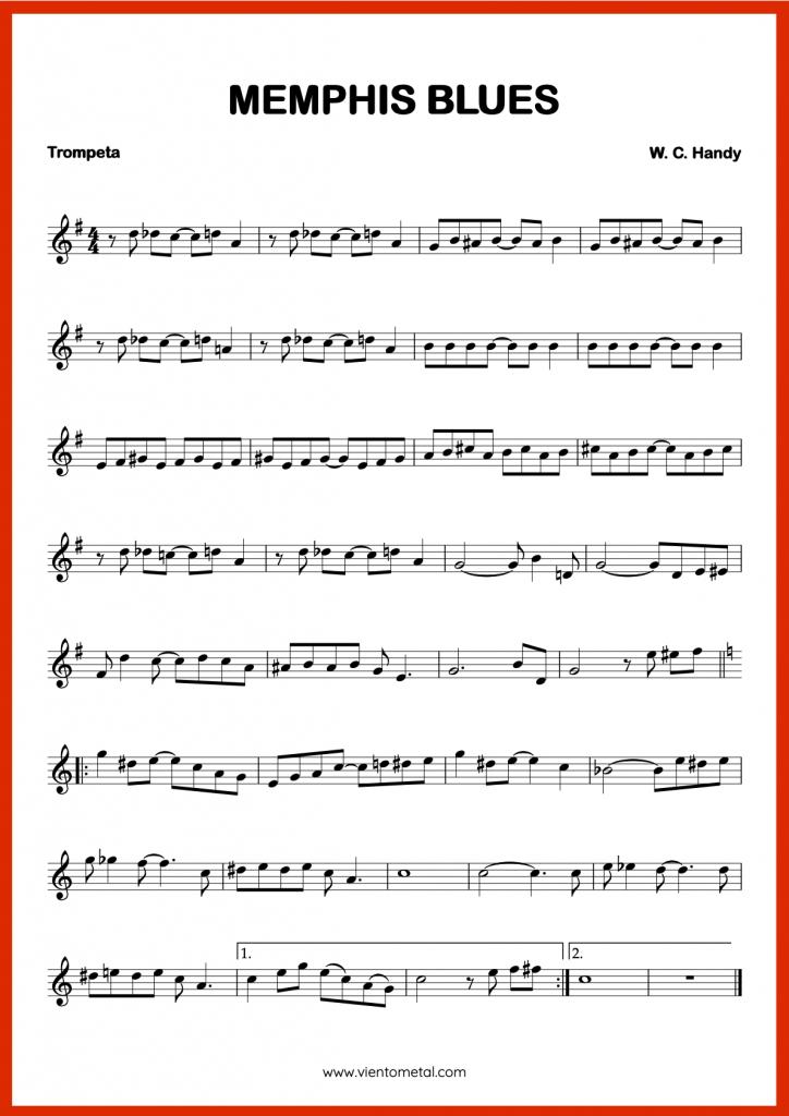 MEMPHIS BLUES - Partitura para Trompeta