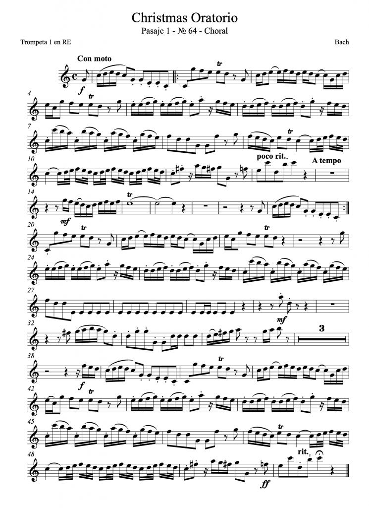 bach christmas oratorio trompeta