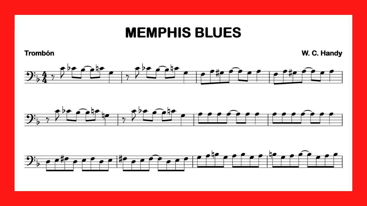 partitura trombon Memphis Blues mini
