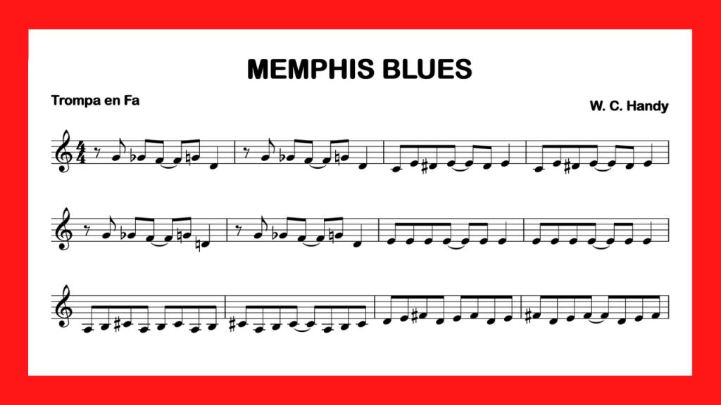 partitura trompa Memphis Blues mini
