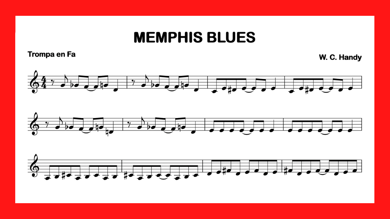 partitura trompa Memphis Blues mini