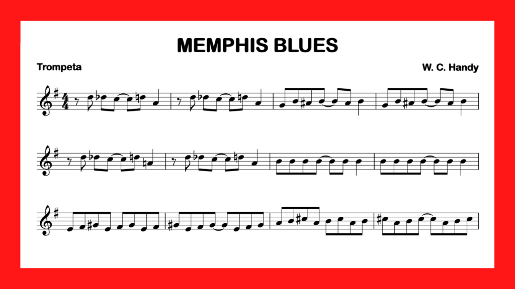 partitura trompeta Memphis Blues mini
