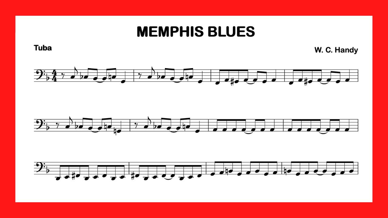 partitura tuba Memphis Blues mini